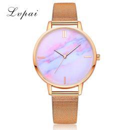 Уплотнения смотреть онлайн-LVPAI Women's Net with Watch 2019 Fashion A variety of seals Alloy Dial Casual Quartz Wrist Watch Gift Bracelet montre femme a7