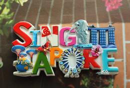Wholesale Craft Ideas - Singapore Landmarks Tourist Travel Souvenir Decorative Resin Fridge Magnet Craft GIFT IDEA