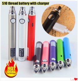 Wholesale Ego Ce3 - 100% Original EVOD UGO V II 510 Thread Battery Micro eGo USB Passthrough 650 900 mAh vaporizer pen with Charger Fit CE3 vape cartridges