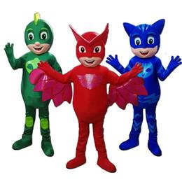 2019 costumi pj 2018 alta qualità caldo maschera uomo costumi della mascotte parata qualità costumi PJ mascotte compleanni costumi Catboy sconti costumi pj