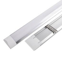 Luces de tubo plano led online-1FT 2FT 3FT 4FT Led Batten T8 Tubos Accesorio de iluminación Led de superficie Montado plano LED tri-prueba Light Tube AC 110-240V