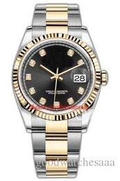 2019 18kt золотые часы (7 цвет)новый высокое качество роскошь 36 мм 18kt золото из нержавеющей DateJust m126233 126233 автоматические механические мужские часы унисекс дешево 18kt золотые часы