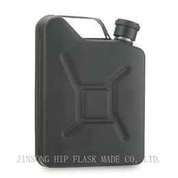 Wholesale Green Flasks - 2018 New Arm blue green High quality 5oz stainless Jerry Can Hip Flask or Oil flask Customized logo free