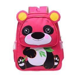 Wholesale cute panda backpacks - 2017 Cute Panda School Bags Kids Baby 'S Bags Children Schoolbags Kindergarten Mini Backpacks Mochilas Escolares Infantis Gift