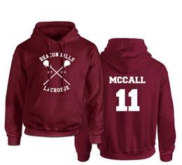 Wholesale Teens Hoodies - Teen Wolf Hoodies Men Streetwear Hip Hop Mens Hooded Hoodie Sweatshirt Beacon Hills Lacrosse Stilinski Lahey McCall Printed