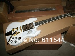 Wholesale mahogany ship models - Wholesale Newest White SG Model G400 Electric Guitar with Bigby Free Shipping High Cheap