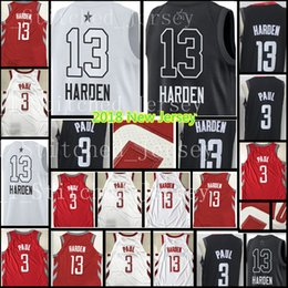 Wholesale Cheap Ship - 2018 New #13 James Harden 3 Chris Paul jersey Men's Red White Black stitched Basketball Jerseys Cheap sales Free Shipping