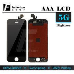 grading panel Coupons - For iPhone 5G 5C 5S LCD Display Grade AAA High Quality White & Black With Touch Screen Digitizer & Free DHL Shipping