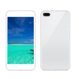 Wholesale real english - Goophone i8 Plus 8Plus 5.5inch Quad Core Has Wireless Charging 1G RAM 8G ROM 8MP Camera 3G Real fingerprint Unlocked Phone