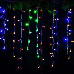 Canada 3 pcs / lot 8 M x 0.5 M 192 Led LED Rideau Glaçon Chaîne de fées Lumières barre de glace Lampes De Noël 110 V / 220 V Nouvel An Jardin Noël Noce Party Decor Offre