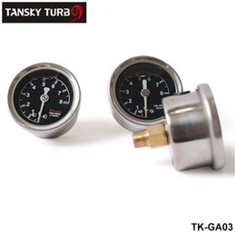 Wholesale Regulator Gauge - Tansky - Liquid Filled Fuel Pressure Gauge BLACK Regulator R32 R33 R34 S15 Have in stock, H.Q. TK-GA03,