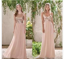 Wholesale Cheap Long Winter Formal Dresses - 2018 Cheap Chiffon A Line Bridesmaid Dresses Halter Neck Long Beach Wedding Gust Dress Formal Maid of Honor Gowns Custom Made