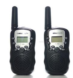 2019 walkie talkie 2pcs Wholesale-2pcs Walkie Talkie radio portatile prosciutto T-388 Nero Mini Wireless LCD 5KM UHF VOX Multi canali ricetrasmettitore Way Radio sconti walkie talkie 2pcs