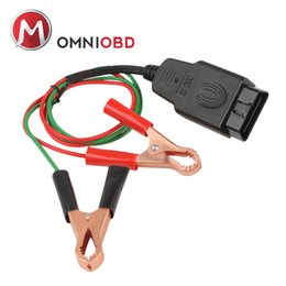 Wholesale Car Ecu - OBD2 Car Diagnostic Cables & Connectors Memory Saver ECU Power Interface Connector Vehicle ECU Emergency Power for 12V DC Power Source Suppl