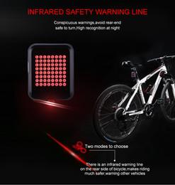 luces indicadoras de advertencia Rebajas INBIKE Luz de bicicleta Indicador de dirección automático Luz trasera Carga USB Advertencia de seguridad de bicicleta de montaña TX129 Luz trasera de bicicleta