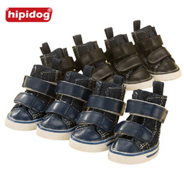 Wholesale Winter Dog Boots Large - Hipidog Winter Waterproof Anti Slip Pet Cat Dog Shoes Soft Leather Snow Boots for Small Big Large Pets Dogs Shoes Size1#2#3#4#5#