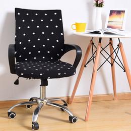 Cadeiras de escritório on-line-Cadeira do escritório Slipcover Cadeiras de Computador Tampa de Assento Elastic Escritório Poltrona Slipcover para Cadeira Rotativa Cadeira de Elevador Cobre yz0019