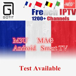 Wholesale Usa French - NEOTV QHDTV French IPTV for Smart TV with 1200+ Spain Tunisia Morocco Germany Portugal PayTV and VOD of FR AR USA with AV Cable