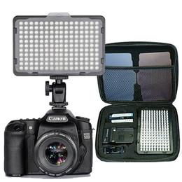 Video-ladegeräte online-176 Stück LED-Licht für DSLR-Kamera Camcorder Dauerlicht, Akku und USB-Ladegerät, Tragetasche Fotografie Foto Video Studio