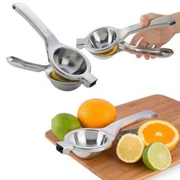 Handpresse online-Küche Edelstahl Obst Zitronenpresse Orange Citrus Handpresse Squeezer Saftpresse Bar Werkzeug Entsafter FFA273 Andere Küchengeräte 50 STÜCKE