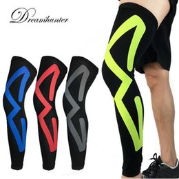 рукава для ног lycra Скидка 1 Pair Lycra Breathable Men Women Cycling Leg Warmers Compression Knee Pads Running Football Basketball Leg Sleeve Sports Safety
