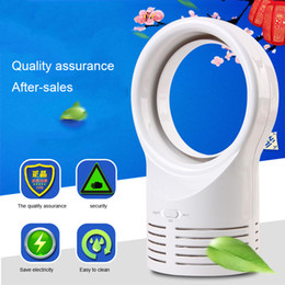 Wholesale Office Cooling Fans - [FS] Big Size Bladeless Silent Mini Fan Creative Office Table Cool Natural Wind Rechargeable Fans