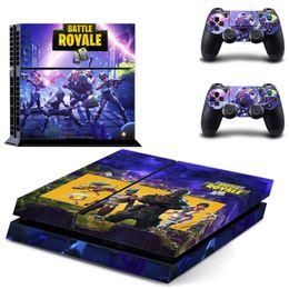 набор игровых приставок Скидка 44 цвета Fortnite наклейка для Sony PlayStation 4 консоли кожи PS4 контроллер наклейки крепость ночь 3 шт. / компл. мультфильм контроллер протекторы