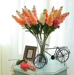 fiori viola artificiali Sconti Fiori artificiali di seta del fiore del giacinto della viola dei fiori variopinti di multi Mariage Birthday Party Bridal Floral Home Decoration