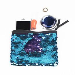 Wholesale fresh professionals - 9 Colors Fashion Paillette Sequins Makeup Bags Cases Hand Bag 19*15cm Professional Beauty Case Makeup Bags Free Shipping