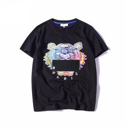 Дизайнер футболки для мужчин летние топы Tiger Head письмо Вышивка футболка мужская одежда Марка с коротким рукавом женщины топы S-2XL от