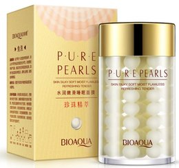 essence de perle Promotion Haute qualité Pure Pearl Cream Acide Hyaluronique Hydratation Profonde Crème Essence Soins Du Visage masque de sommeil 120g Livraison Gratuite