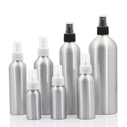 Wholesale wholesale mist bottle - Aluminium Fine Mist Empty Bottle Metal Spray Atomiser Bottles Resuable Eco Friendly Cosmetic Container Many Size 2 8ym6 CB