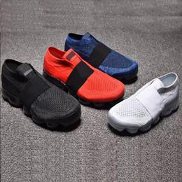 Argentina Envío gratis 2018 Chaussures niños arco iris verdadero niños niñas zapatillas de deporte de moda vapor niño niños zapatillas sin cordones tamaño 28-35 Suministro