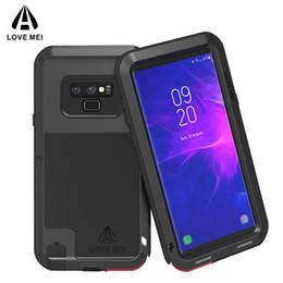 Металлический галактический футляр для телефона онлайн-Для Samsung galaxy Note 9 8 S9 S9 Plus телефон case любовь Мэй металл алюминий мощный грязезащитный противоударный броня case для galaxy Note9 S8+