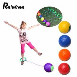 2019 дети прыгают в мяч Relefree Colorful Fitness Skip Ball Outdoor Skipper Skipping Rope Jump Spining Swing Ball Foot Jump Kids Toy Jumping