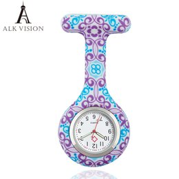 cow glasses Coupons - ALK VISION FOB Silicone Nurse Watch for Doctor Nurse Gift Cow Pattern Japan Movt High Quality Brand Hospital Pocket Watch