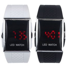 alarm prices Coupons - New Arrival LED Alarm Date Digital Men Women Sports Gel Watch Wrist Bracelet Wholesale Price #200717