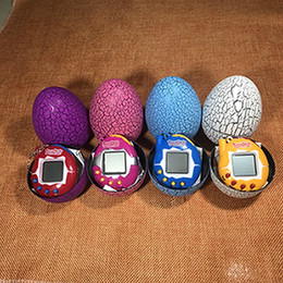 Wholesale funny electronics - egg shells Retro Game Toys Pets In One Funny Toy pet Vintage Virtual Pets Cyber Toy Tamagotchi Digital Pet Child Game Kids DHL Free Shipping