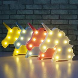Canada Mignon Licorne Tête Led Night Light Animal Chapiteau Lampes Sur Le Mur Pour Les Enfants Parti Chambre Décor Enfants Cadeaux Offre