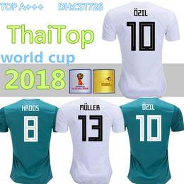 Tailandia 2018 camisetas de la Copa del mundo MULLER KROOS OZIL HUMMELS  WERNER camisetas de fútbol 18 19 equipo nacional de Alemania fuera de casa  Jersey de ... eeef052ff6e7c