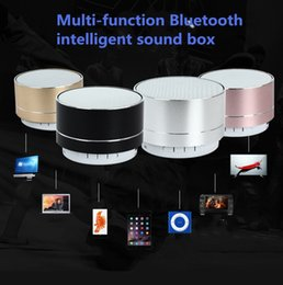 Wholesale Metal Card Box - New A10 Bluetooth sound box aluminum alloy with light voice call card Mini subwoofer cracked Bluetooth sound box USB power supply