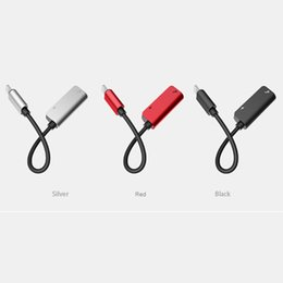 Wholesale two earphone one - Charger Adapter Connectors Cable Two in One Dual For Headphone Audio Charge and Earphone Line Charger Cable
