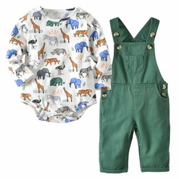 cute sweet cartoons Coupons - Everweekend Cute Baby Boys Girls Animals Cartoon Rompers with Overall Pants 2pcs Sets Sweet Spring Summer Autumn Fashion Children Clothing