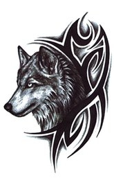 Wholesale Tattoo Clean - NEW ARRIVAL WOLF KING WOLF HAND TATTOOS Fast print on the body Easy to clean FREE SHIPPING