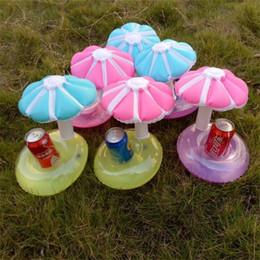 giocattoli funghi bambini Sconti Mini Gonfiabile Mushroom Drink Holder Piscina all'aperto Bagno Giocattoli per bambini Ombrello Tree Water Pool Galleggianti Decorazioni per feste Vendita calda 3 9lx Z