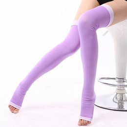 Wholesale Medical Supports - Medical Graduated Compression Stockings Pantyhose Moderate Pressure thigh high Support leg Open Toes night Stockings for Women