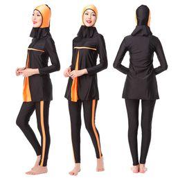 Wholesale Swimwear For Muslims - Muslim Swimwear Women Islamic Swimsuits For Muslima Covered Swimsuits Long Sleeve Beach Wear Women Clothes Burkini New Summer Spring