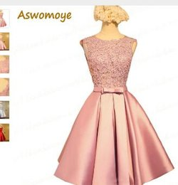Aswomoye Short Bridesmaid Dress 2018 New Elegant Wedding Party Dresses  Backless Sexy O-Neck Formal PromDress robe de soiree 7d81f60c9eb3