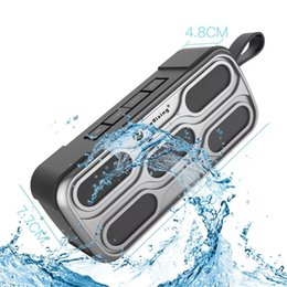 Jugar polvo online-Altavoz portátil TF / AUX / USB Play Inalámbrico Bluetooth 3D Altavoz estéreo de alta fidelidad Radio FM Altavoz antideslizante a prueba de agua al aire libre
