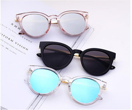 Wholesale marines women - women fashion hipster sunglasses square transparent color Full frame designer club sunglasses men color marine sun glasses A357